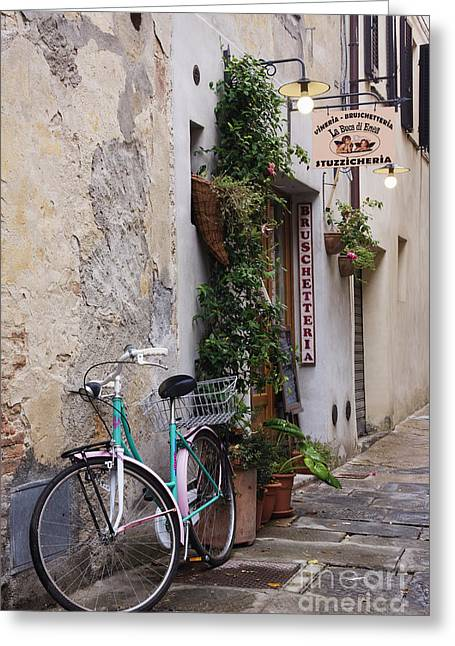 European Bicycle Shop Greeting Cards - Bicycle Greeting Card by Jeremy Woodhouse