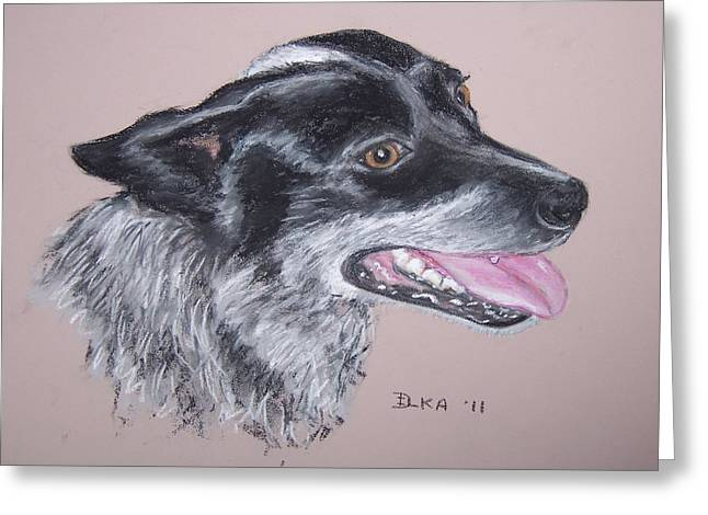 Working Dog Pastels Greeting Cards - Biddy Greeting Card by Dianne  Ilka