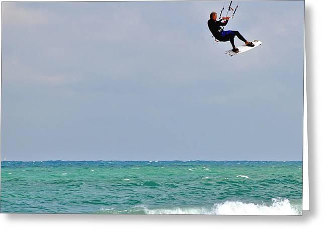 Best Sellers -  - Kite Boarding Greeting Cards - Big Air Greeting Card by Rick Oz