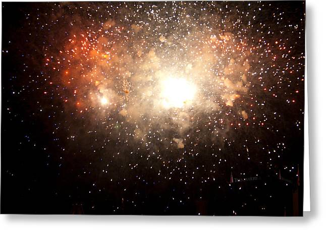 Pyrotechnics Greeting Cards - Big Bang Greeting Card by Paul Mangold
