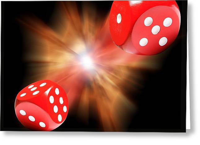 Expanding Light Greeting Cards - Big Bang Probability, Conceptual Image Greeting Card by Victor De Schwanberg