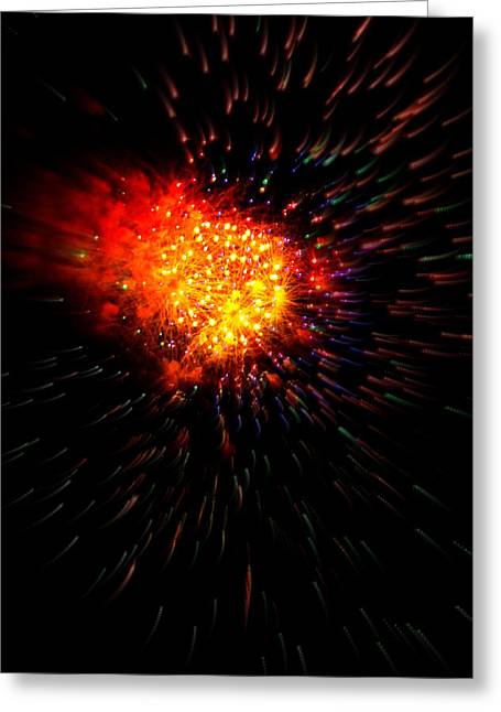 Science Greeting Cards - Big Bang Greeting Card by Rick Rauzi