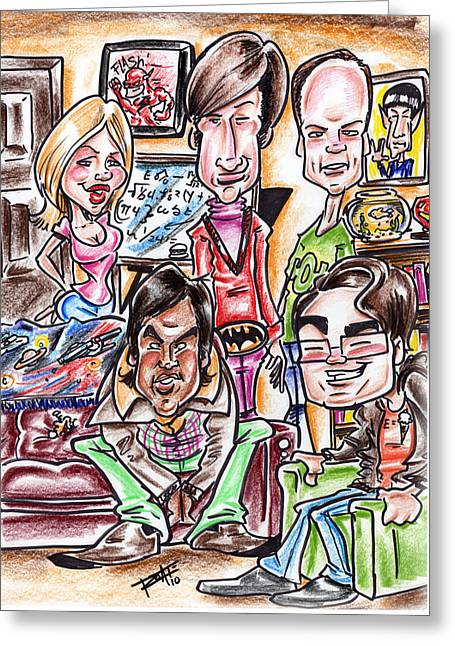 Hottie Greeting Cards - Big Bang Theory Greeting Card by Big Mike Roate