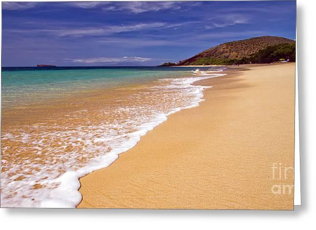 Makena Greeting Cards - Big Beach Maui Hawaii Greeting Card by Dustin K Ryan