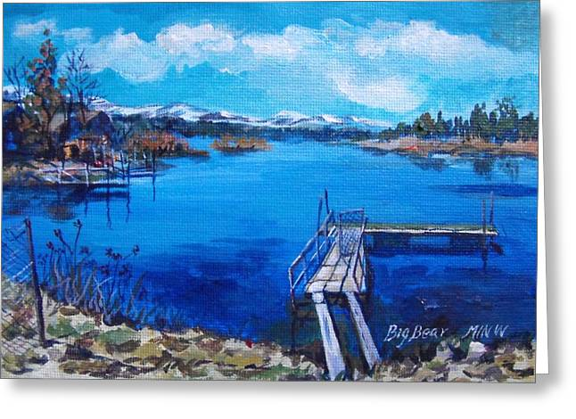 Recently Sold -  - Surreal Landscape Greeting Cards - Big Bear Lake 1 Greeting Card by Min Wang