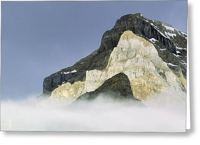 Whytes Lake Greeting Cards - Big Beehive, Devils Thumb, And Mount Greeting Card by Darwin Wiggett
