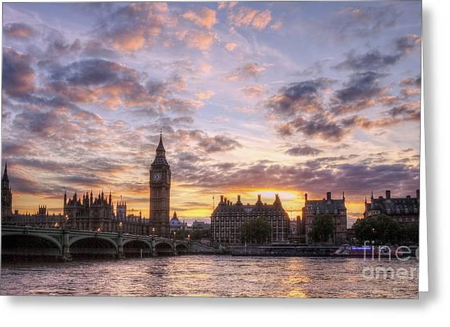 Big Ben London Greeting Card by Lee-Anne Rafferty-Evans