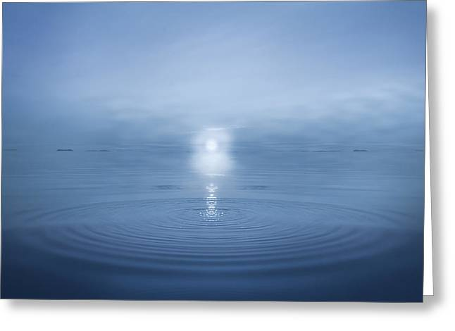 Big Blue Greeting Card by Andy Astbury