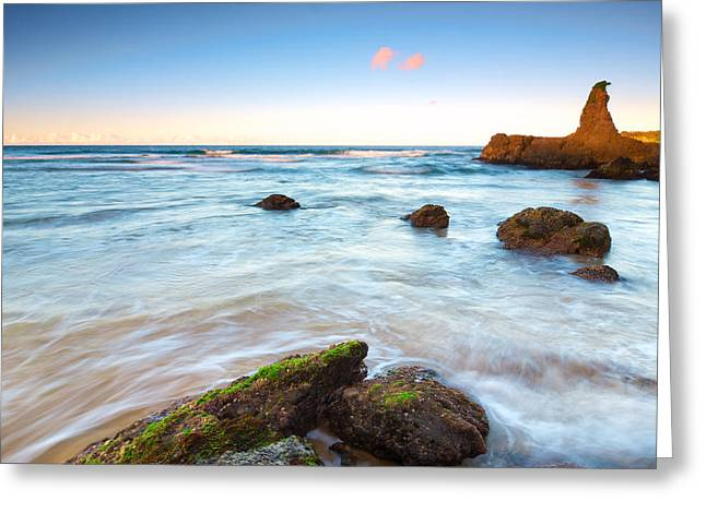 Long Exposure Waterflow Greeting Cards - Big Brothers Greeting Card by Andre Distel