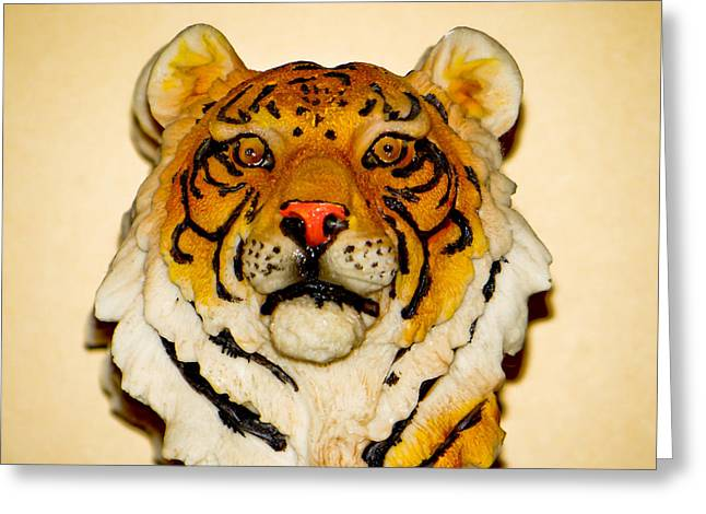 The Tiger Mixed Media Greeting Cards - Big Cat Greeting Card by Dennis Dugan