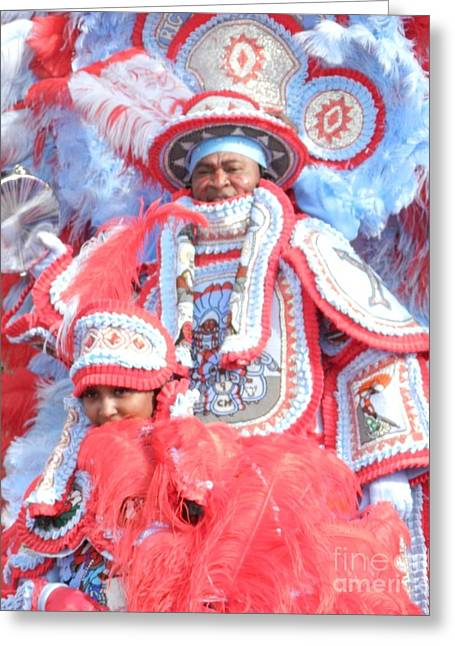 Commanche Greeting Cards - Big Chief and Queen Greeting Card by Torey Polk