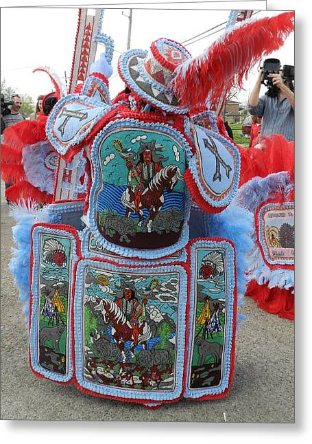Commanche Greeting Cards - Big Chief Back Greeting Card by Torey Polk