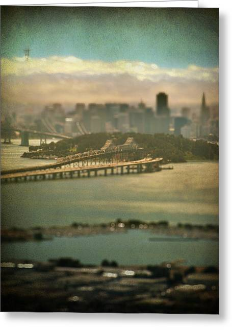 Bay Bridge Greeting Cards - Big City Dreams Greeting Card by Laurie Search
