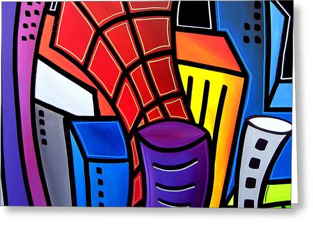 Fidostudio Greeting Cards - Big City Nights Greeting Card by Tom Fedro - Fidostudio