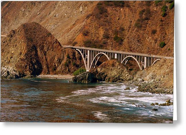 Bridge Near Big Sur Greeting Cards - Big Creek Bridge Close Greeting Card by Jeff Lowe