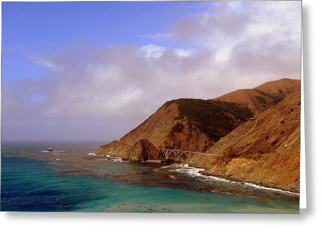 Bridge Near Big Sur Greeting Cards - Big Creek Bridge Greeting Card by Jeff Lowe