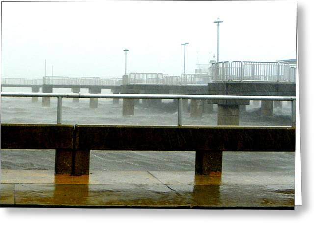 Big Dock Tropical Storm Greeting Card by Sheri McLeroy