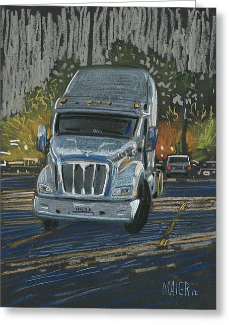 Cabs Greeting Cards - Big Fella Greeting Card by Donald Maier