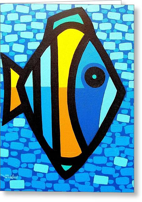 Layers Greeting Cards - Big Fish At Swim Greeting Card by John  Nolan