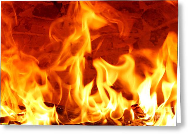 Best Sellers -  - Engulfing Greeting Cards - Big Flames Greeting Card by Francisco Leitao