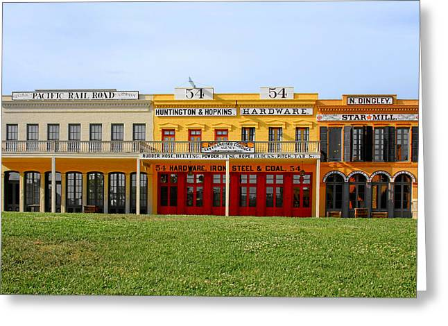 Trade Greeting Cards - Big Four Building Sacramento California Greeting Card by Christine Till