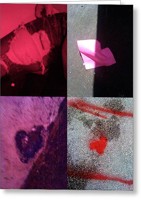 Heart Images Greeting Cards - Big Hearts Pink Red Purple Greeting Card by Boy Sees Hearts