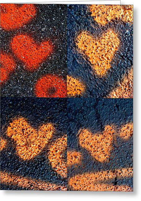 Heart Images Greeting Cards - Big Hearts Spray Paint Greeting Card by Boy Sees Hearts