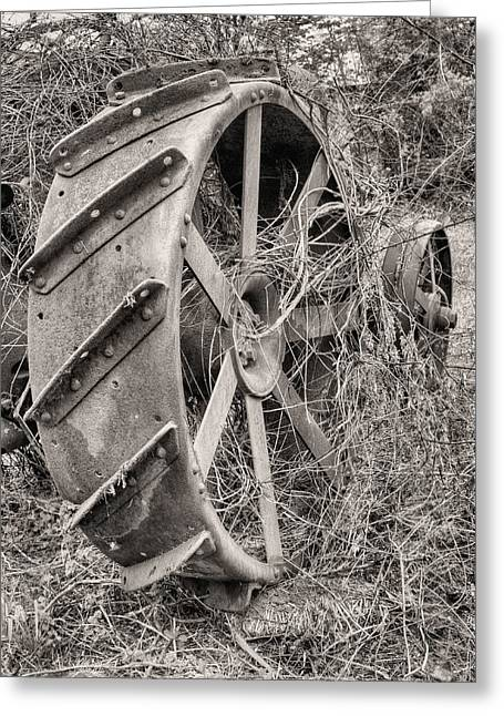 Tractor Tire Greeting Cards - Big Iron Greeting Card by JC Findley