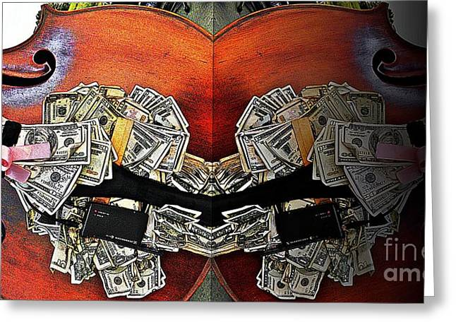 Live Music Greeting Cards - Big Money Bass Greeting Card by Chris Berry