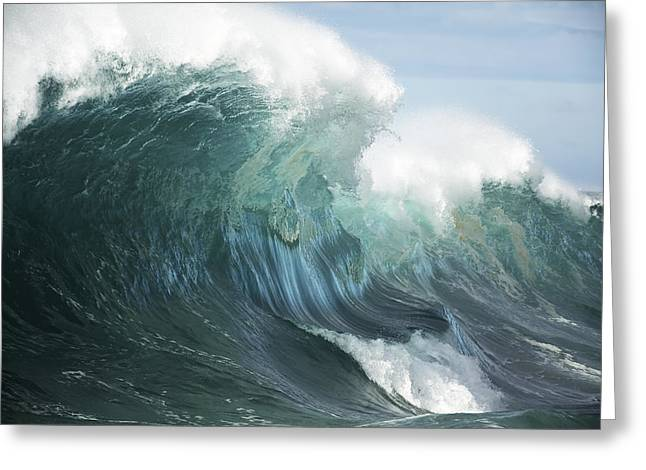 Vince Greeting Cards - Big Pacific Wave Greeting Card by Vince Cavataio