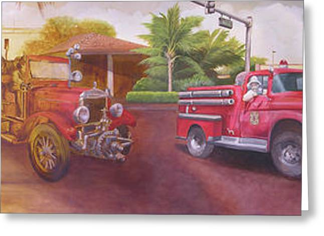 Brigade Greeting Cards - Big Red Greeting Card by Dana Donaty