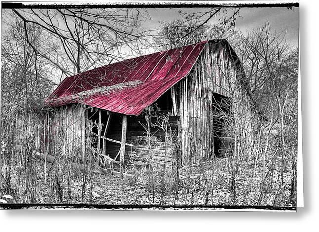 Best Sellers -  - Tennessee Farm Greeting Cards - Big Red Greeting Card by Debra and Dave Vanderlaan
