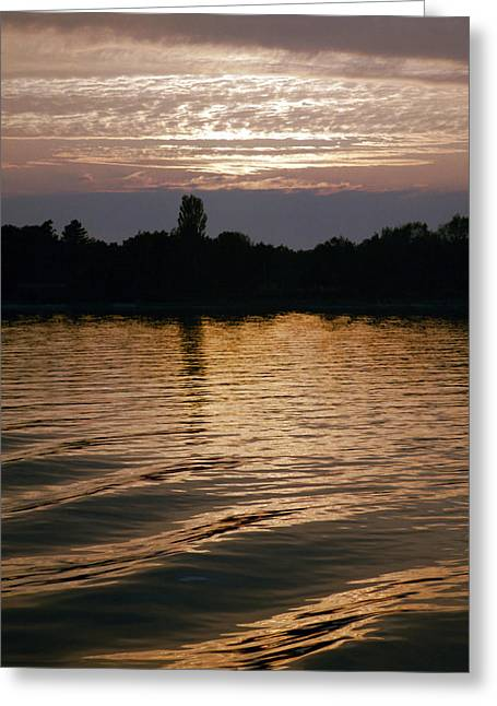 Dk Greeting Cards - Big Ripples Greeting Card by Jan Faul