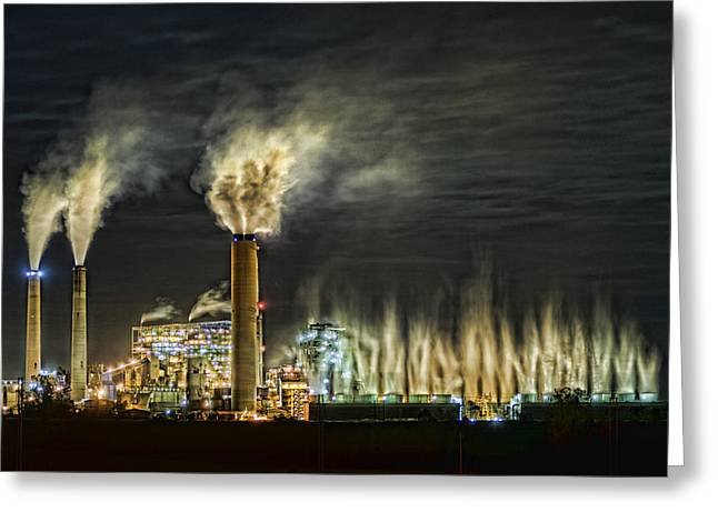 Power Plants Greeting Cards - Big Rivers Power Plant Greeting Card by Jim Pearson