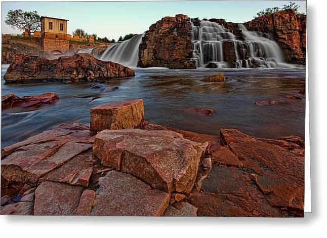 Sioux Greeting Cards - Big Sioux River Falls Greeting Card by Dan Mihai