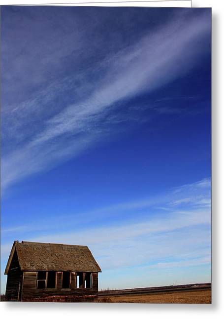 Edmonton Photographer Greeting Cards - Big Sky School Yard Greeting Card by Jerry Cordeiro