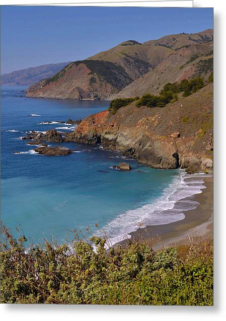 Big Sur California Greeting Cards - Big Sur - California Coastline  Greeting Card by Stephen  Vecchiotti