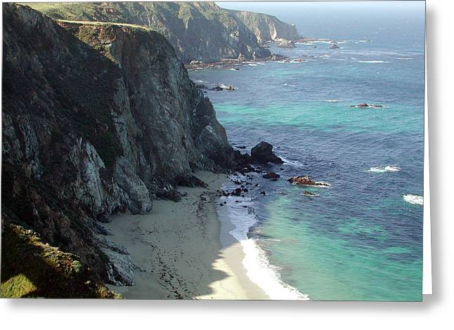 Santa Lucia Mountains Greeting Cards - Big Sur Greeting Card by Armand Cabrera