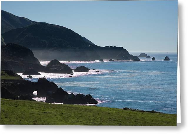 Coast Hwy Ca Photographs Greeting Cards - Big Sur  Greeting Card by Doron  Hanoch