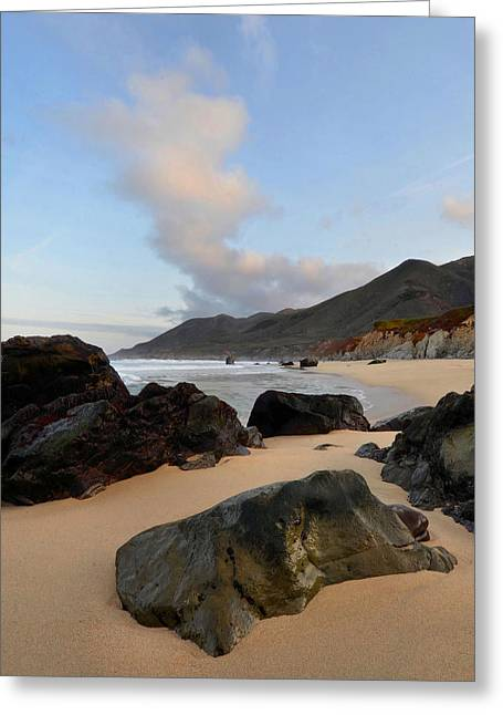 Big Sur Beach Greeting Cards - Big Sur Morning Greeting Card by Stephen  Vecchiotti