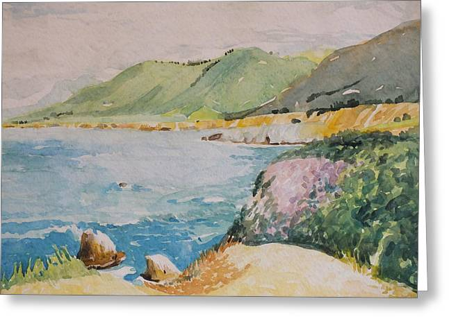 Big Sir California Greeting Cards - Big Sur Spring Greeting Card by Milledge Bennett