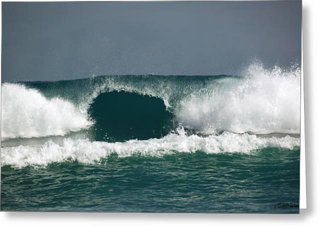 Bluegreen Greeting Cards - Big Surf Delray Beach Florida Greeting Card by Michelle Wiarda