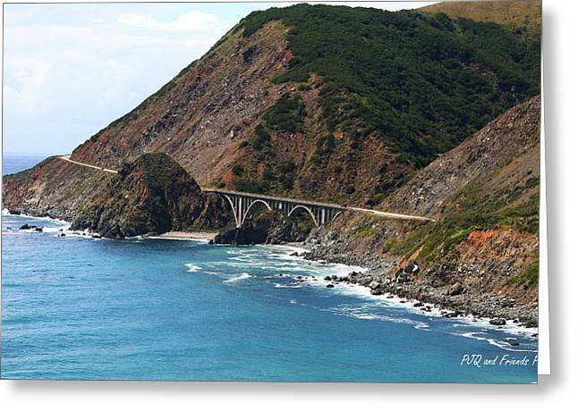 Pfeiffer Beach Greeting Cards - Big Surs Rocky Creek Bridge Greeting Card by PJQandFriends Photography