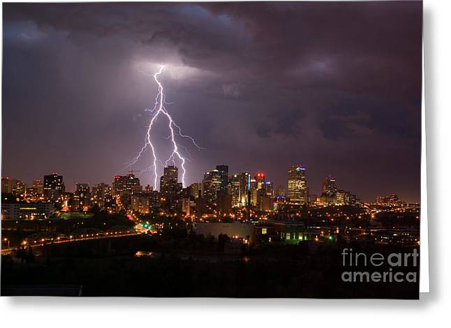 Edmonton Greeting Cards - Big Thunder Greeting Card by Ian MacDonald
