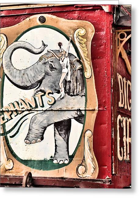 Big Top Greeting Cards - Big Top Elephants Greeting Card by Kristin Elmquist