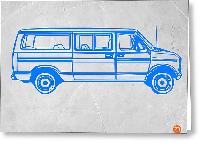 Funny Drawings Greeting Cards - Big Van Greeting Card by Naxart Studio