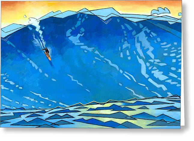 Waves Greeting Cards - Big Wave Greeting Card by Douglas Simonson