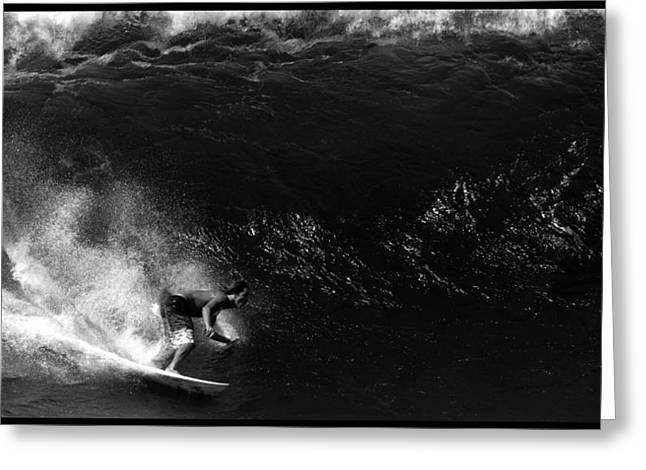 Big Wave Surfing Greeting Cards - Big Wave Surfing Greeting Card by Brad Scott