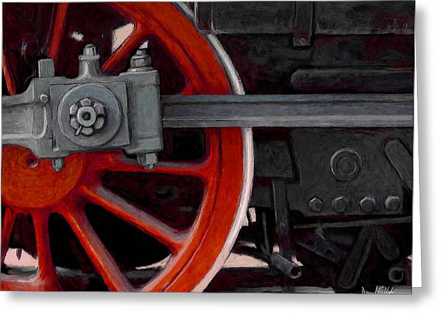 Locomotive Wheels Greeting Cards - Big Wheel Greeting Card by David Kyte