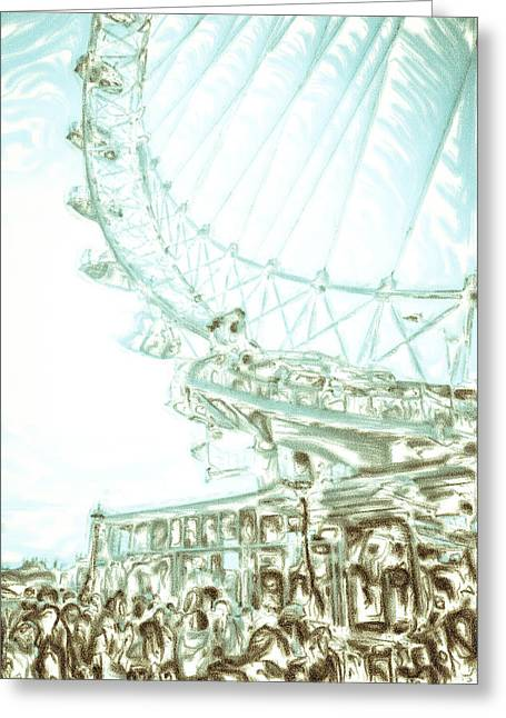 Amusements Greeting Cards - Big wheel Greeting Card by Tom Gowanlock